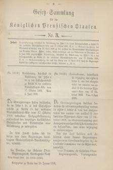 Gesetz-Sammlung für die Königlichen Preußischen Staaten. 1900, Nr. 3 (24 Januar)