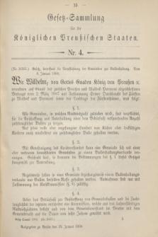 Gesetz-Sammlung für die Königlichen Preußischen Staaten. 1900, Nr. 4 (25 Januar)