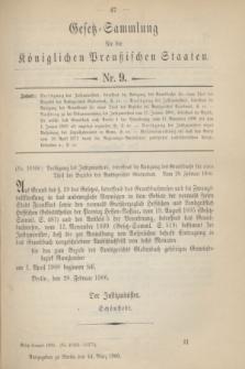 Gesetz-Sammlung für die Königlichen Preußischen Staaten. 1900, Nr. 9 (14 März)
