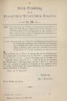 Gesetz-Sammlung für die Königlichen Preußischen Staaten. 1900, Nr. 10 (28 März)