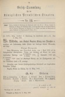 Gesetz-Sammlung für die Königlichen Preußischen Staaten. 1900, Nr. 12 (31 März)