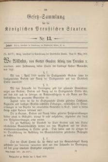 Gesetz-Sammlung für die Königlichen Preußischen Staaten. 1900, Nr. 13 (3 April)