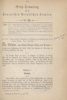 Gesetz-Sammlung für die Königlichen Preußischen Staaten. 1900, Nr. 24 (12 Juli)