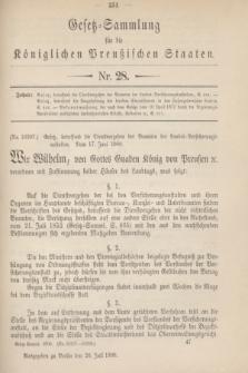 Gesetz-Sammlung für die Königlichen Preußischen Staaten. 1900, Nr. 28 (20 Juli)