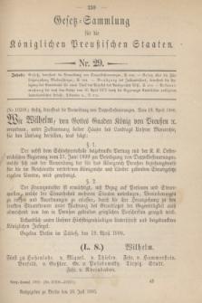 Gesetz-Sammlung für die Königlichen Preußischen Staaten. 1900, Nr. 29 (26 Juli)
