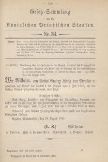 Gesetz-Sammlung für die Königlichen Preußischen Staaten. 1900, Nr. 34 (3 September)