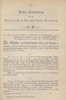 Gesetz-Sammlung für die Königlichen Preußischen Staaten. 1900, Nr. 35 (8 September)