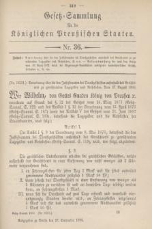 Gesetz-Sammlung für die Königlichen Preußischen Staaten. 1900, Nr. 36 (26 September)