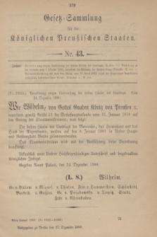 Gesetz-Sammlung für die Königlichen Preußischen Staaten. 1900, Nr. 43 (27 Dezember)