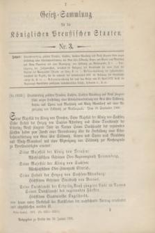 Gesetz-Sammlung für die Königlichen Preußischen Staaten. 1901, Nr. 3 (30 Januar)
