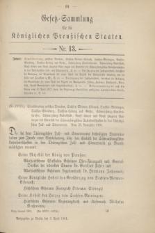Gesetz-Sammlung für die Königlichen Preußischen Staaten. 1901, Nr. 13 (3 April)