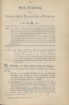Gesetz-Sammlung für die Königlichen Preußischen Staaten. 1901, Nr. 21 (28 Juni)