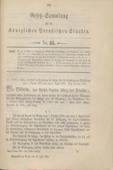 Gesetz-Sammlung für die Königlichen Preußischen Staaten. 1901, Nr. 24 (18 Juli)