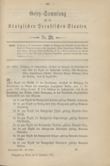 Gesetz-Sammlung für die Königlichen Preußischen Staaten. 1901, Nr. 29 (13 September)