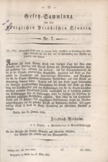Gesetz-Sammlung für die Königlichen Preußischen Staaten. 1853, Nr. 7 (17 März)