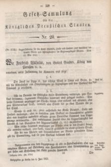 Gesetz-Sammlung für die Königlichen Preußischen Staaten. 1853, Nr. 20 (6 Juni)