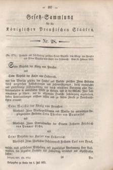 Gesetz-Sammlung für die Königlichen Preußischen Staaten. 1853, Nr. 28 (1 Juli)