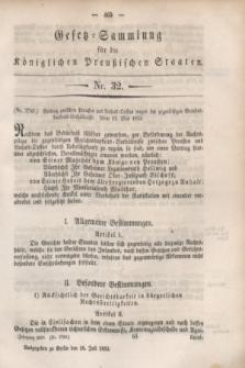 Gesetz-Sammlung für die Königlichen Preußischen Staaten. 1853, Nr. 32 (16 Juli)