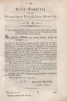 Gesetz-Sammlung für die Königlichen Preußischen Staaten. 1853, Nr. 35 (26 Juli)