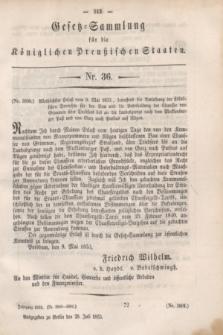Gesetz-Sammlung für die Königlichen Preußischen Staaten. 1853, Nr. 36 (28 Juli)