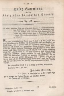Gesetz-Sammlung für die Königlichen Preußischen Staaten. 1853, Nr. 47 (14 September)