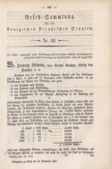Gesetz-Sammlung für die Königlichen Preußischen Staaten. 1853, Nr. 53 (30 September)