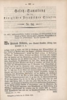 Gesetz-Sammlung für die Königlichen Preußischen Staaten. 1853, Nr. 54 (13 Oktober)