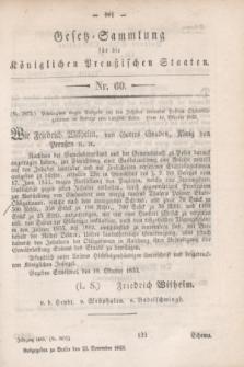 Gesetz-Sammlung für die Königlichen Preußischen Staaten. 1853, Nr. 60 (23 November) + wkładka