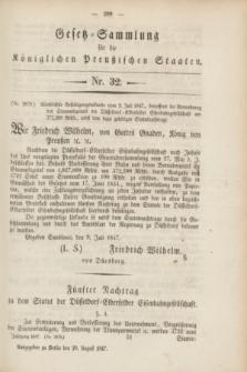 Gesetz-Sammlung für die Königlichen Preußischen Staaten. 1847, Nr. 32 (20 August)