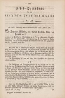 Gesetz-Sammlung für die Königlichen Preußischen Staaten. 1847, Nr. 42 (2 Dezember)