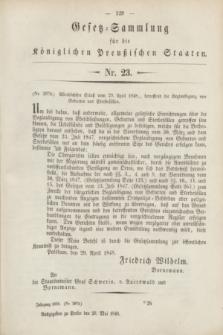 Gesetz-Sammlung für die Königlichen Preußischen Staaten. 1848, Nr. 23 (20 Mai)