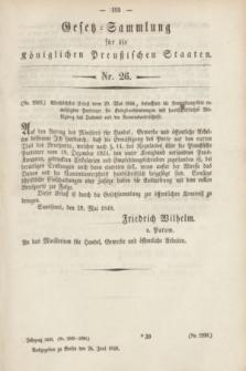 Gesetz-Sammlung für die Königlichen Preußischen Staaten. 1848, Nr. 26 (26 Juni)