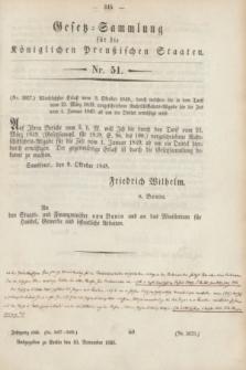 Gesetz-Sammlung für die Königlichen Preußischen Staaten. 1848, Nr. 51 (10 November)