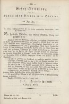 Gesetz-Sammlung für die Königlichen Preußischen Staaten. 1848, Nr. 54 (6 Dezember)