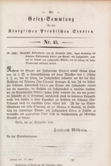Gesetz-Sammlung für die Königlichen Preußischen Staaten. 1844, Nr. 35 (30 September)