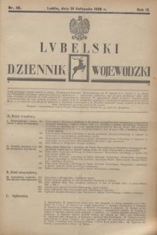 Lubelski Dziennik Wojewódzki. R.9, nr 38 (21 listopada 1928)