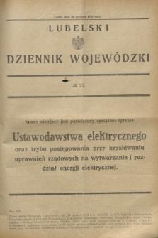 Lubelski Dziennik Wojewódzki. [R.10], № 21 (26 czerwca 1929)