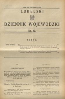 Lubelski Dziennik Wojewódzki. [R.11], nr 32 (13 września 1930)