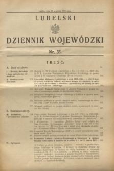 Lubelski Dziennik Wojewódzki. [R.11], nr 33 (15 września 1930)