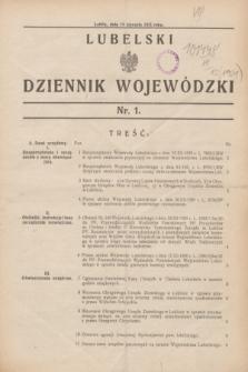 Lubelski Dziennik Wojewódzki. [R.12], nr 1 (14 stycznia 1931)