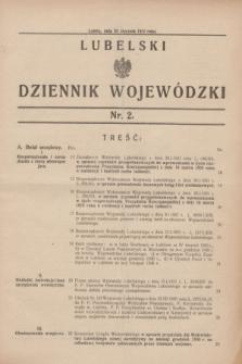 Lubelski Dziennik Wojewódzki. [R.12], nr 2 (24 stycznia 1931)