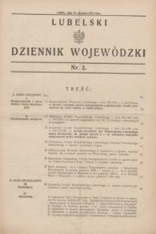 Lubelski Dziennik Wojewódzki. [R.12], nr 3 (31 stycznia 1931)
