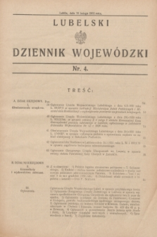 Lubelski Dziennik Wojewódzki. [R.12], nr 4 (10 lutego 1931)