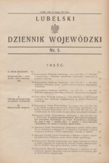 Lubelski Dziennik Wojewódzki. [R.12], nr 5 (24 lutego 1931)
