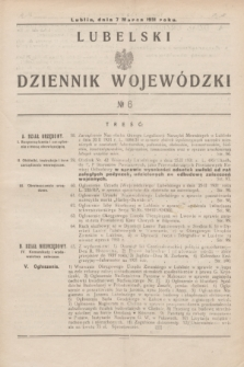 Lubelski Dziennik Wojewódzki. [R.12], nr 6 (7 marca 1931)