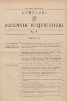 Lubelski Dziennik Wojewódzki. [R.12], nr 7 (21 marca 1931)