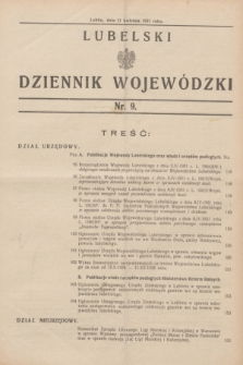 Lubelski Dziennik Wojewódzki. [R.12], nr 9 (11 kwietnia 1931)
