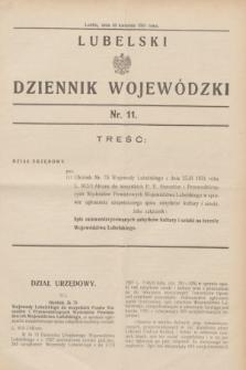 Lubelski Dziennik Wojewódzki. [R.12], nr 11 (30 kwietnia 1931)