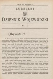 Lubelski Dziennik Wojewódzki. [R.12], nr 13 (18 maja 1931)