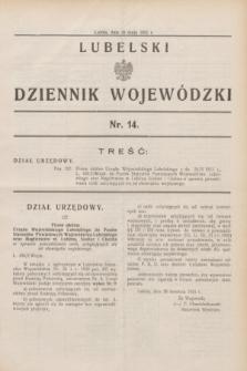 Lubelski Dziennik Wojewódzki. [R.12], nr 14 (26 maja 1931)